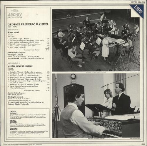 The English Concert Handel: Silete Venti / Cecilia, Volgi Un Sguardo vinyl LP album (LP record) German X2XLPHA716910