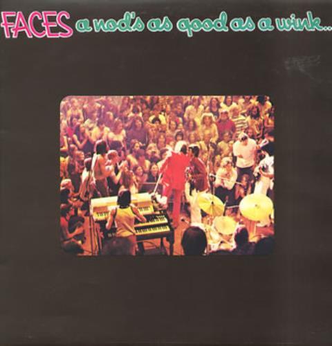 The Faces A Nod's As Good As A Wink... - 1st + Poster vinyl LP album (LP record) UK FCELPAN74072