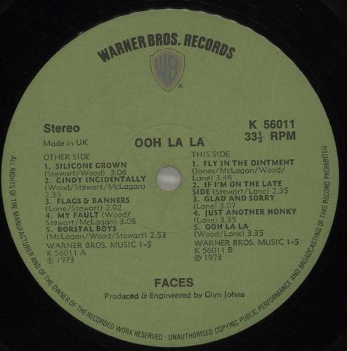 The Faces Ooh La La - 1st + Poster - VG vinyl LP album (LP record) UK FCELPOO672627