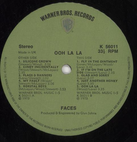 The Faces Ooh La La - 1st + Poster vinyl LP album (LP record) UK FCELPOO730625