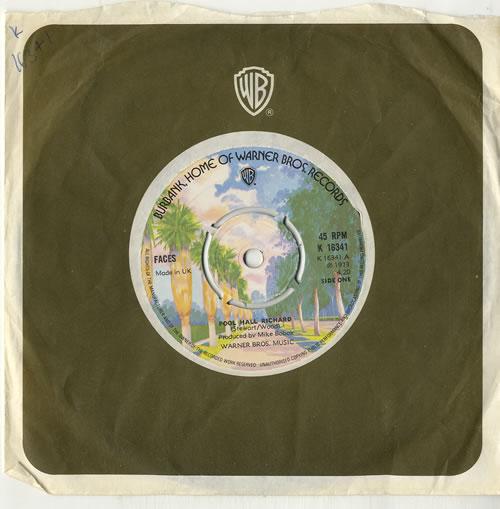 "The Faces Pool Hall Richard - 4pr 7"" vinyl single (7 inch record) UK FCE07PO617780"