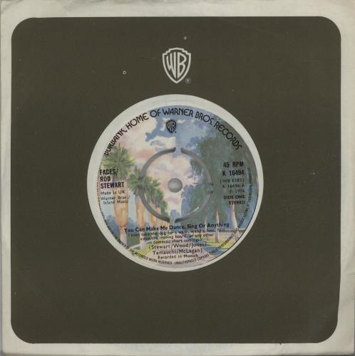 """The Faces You Can Make Me Dance Sing Or Anything - 4 prong 7"""" vinyl single (7 inch record) UK FCE07YO671067"""