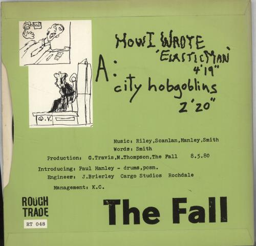 "The Fall How I Wrote Elastic Man 7"" vinyl single (7 inch record) UK FLL07HO08901"