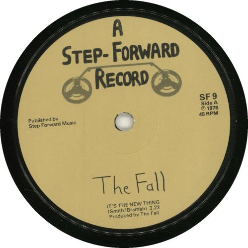 "The Fall It's The New Thing 7"" vinyl single (7 inch record) UK FLL07IT89000"