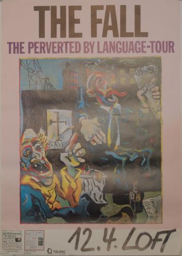 The Fall Perverted By Language Tour + date poster German FLLPOPE706890