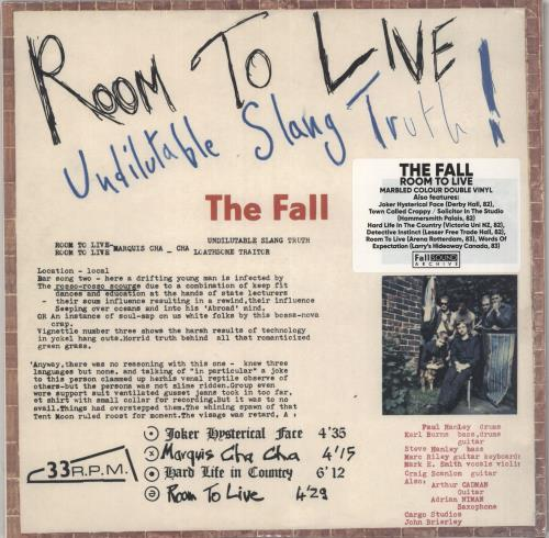 The Fall Room To Live - Brown Vinyl - Sealed 2-LP vinyl record set (Double Album) UK FLL2LRO733490