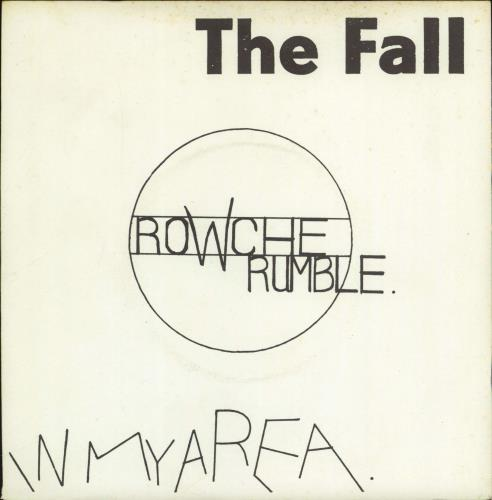 "The Fall Rowche Rumble 7"" vinyl single (7 inch record) UK FLL07RO106105"