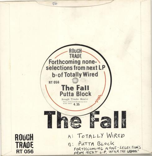 "The Fall Totally Wired 7"" vinyl single (7 inch record) UK FLL07TO106108"