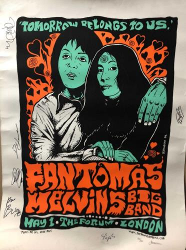 The Fantomas Melvins Big Band Tomorrow Belongs To Us - Autographed poster UK ZH9POTO714421
