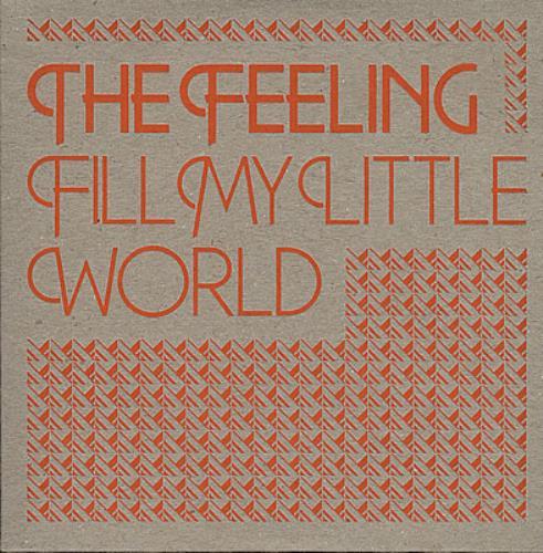 "The Feeling Fill My Little World CD single (CD5 / 5"") UK FE2C5FI369800"