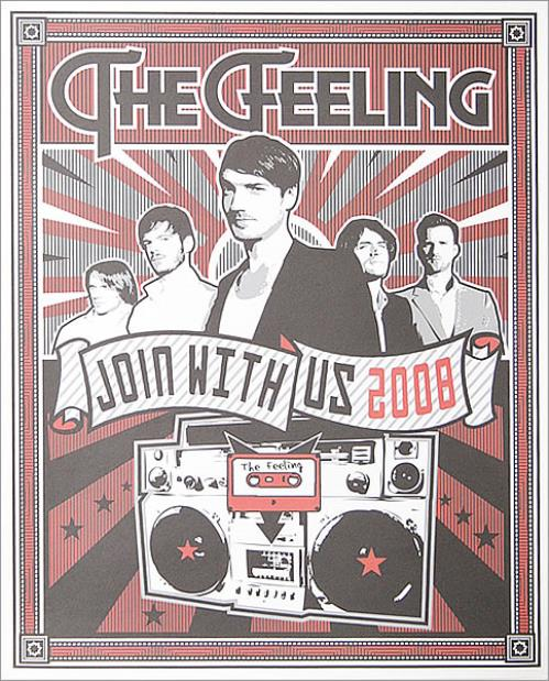 The Feeling Join With Us UK Tour 2008 Poster poster UK FE2POJO457112