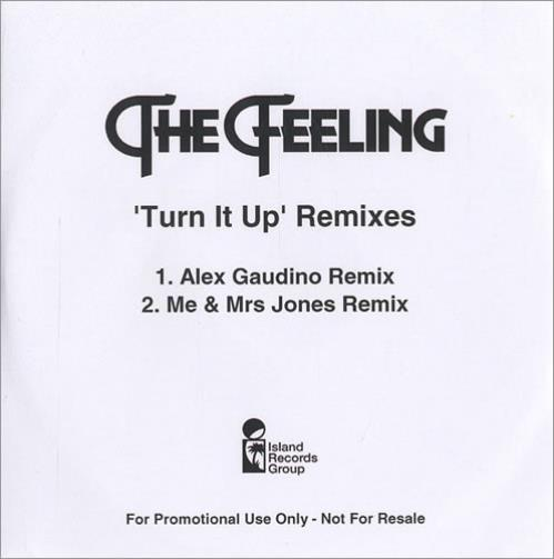 The Feeling Turn It Up CD-R acetate UK FE2CRTU446199