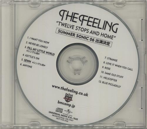 The Feeling Twelve Stops And Home CD-R acetate Japanese FE2CRTW678983