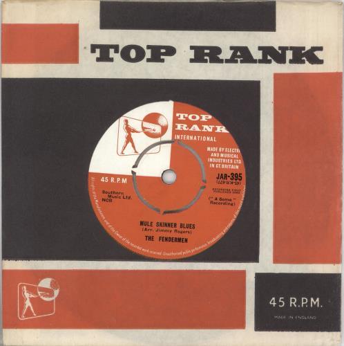 "The Fendermen Mule Skinner Blues 7"" vinyl single (7 inch record) UK U9P07MU727750"