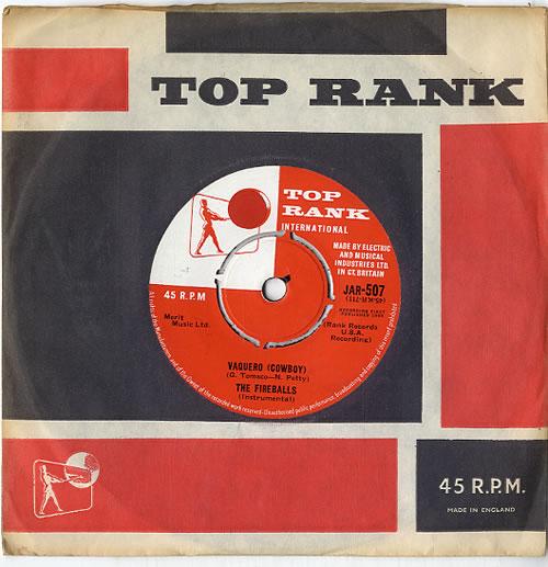 """The Fireballs Vaquero (Cowboy) 7"""" vinyl single (7 inch record) UK VW-07VA613396"""