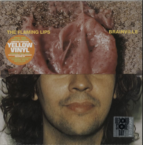 "The Flaming Lips Brainville - RSD 15 - Yellow Vinyl 10"" vinyl single (10"" record) UK F-L10BR628065"