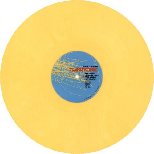 The Flaming Lips Embryonic - Blue & Yellow Vinyl 2-LP vinyl record set (Double Album) US F-L2LEM497882
