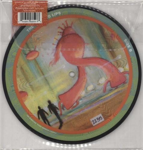 """The Flaming Lips Fight Test 7"""" vinyl picture disc 7 inch picture disc single US F-L7PFI267235"""