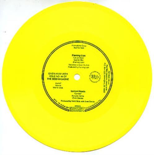 "The Flaming Lips Life On Mars - Flexi 7"" vinyl single (7 inch record) US F-L07LI300884"