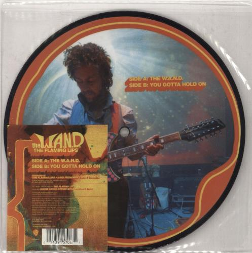 """The Flaming Lips The W.A.N.D. 7"""" vinyl picture disc 7 inch picture disc single UK F-L7PTH365108"""