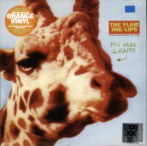 "The Flaming Lips This Here Jiraffe - RSD - Orange Vinyl - Sealed 10"" vinyl single (10"" record) UK F-L10TH689634"