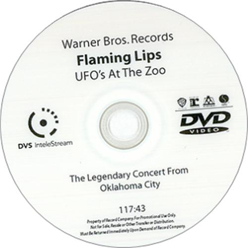 The Flaming Lips UFO's At The Zoo promo DVD-R US F-LDRUF425891