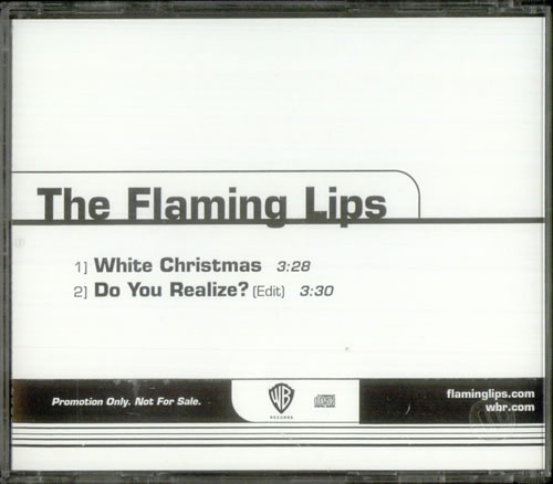 """The Flaming Lips White Christmas CD single (CD5 / 5"""") US F-LC5WH234496"""