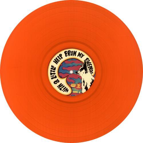 The Flaming Lips With A Little Help From My Fwends - Orange Vinyl + Bonus CD vinyl LP album (LP record) UK F-LLPWI690484