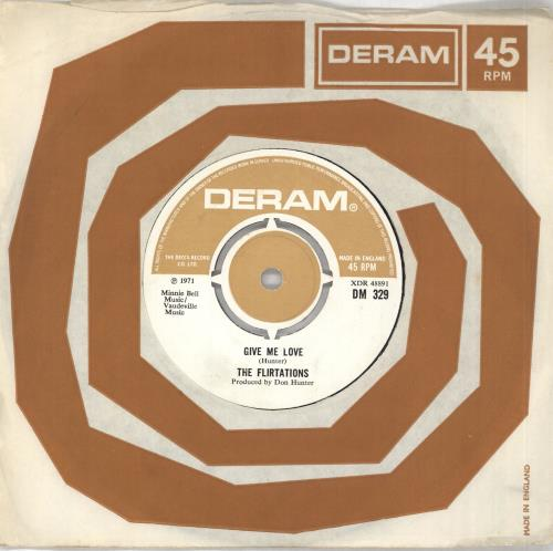"The Flirtations Give Me Love 7"" vinyl single (7 inch record) UK 5FL07GI670345"