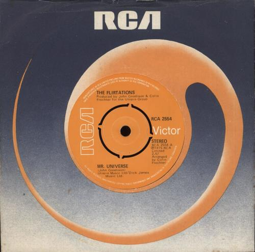 "The Flirtations Mr. Universe 7"" vinyl single (7 inch record) UK 5FL07MR709021"