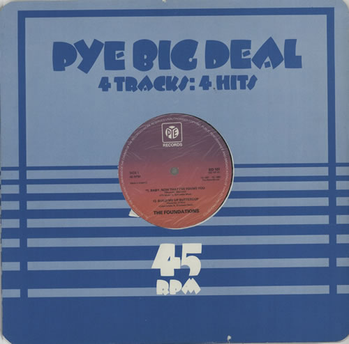 "The Foundations Pye Big Deal EP 12"" vinyl single (12 inch record / Maxi-single) UK TFO12PY600554"