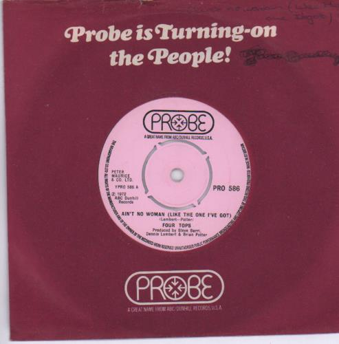 "The Four Tops Ain't No Woman (Like The One I Got) 7"" vinyl single (7 inch record) UK FTP07AI680119"