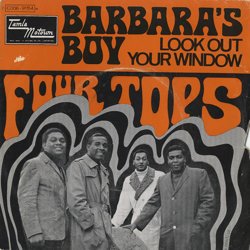 "The Four Tops Barbara's Boy 7"" vinyl single (7 inch record) French FTP07BA459746"