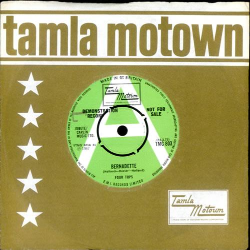"The Four Tops Bernadette 7"" vinyl single (7 inch record) UK FTP07BE349497"
