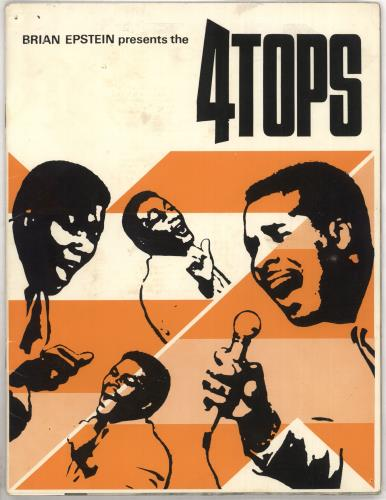 The Four Tops Brian Epstein Presents The... tour programme UK FTPTRBR311091