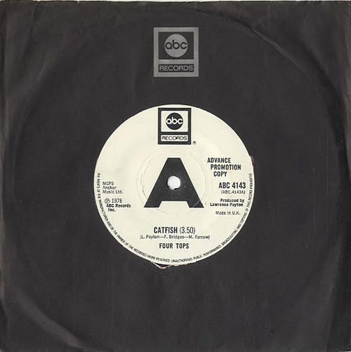 """The Four Tops Catfish - A Label 7"""" vinyl single (7 inch record) UK FTP07CA594090"""
