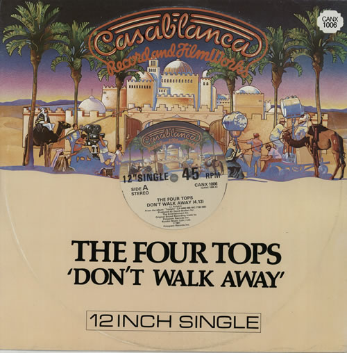 "The Four Tops Don't Walk Away 12"" vinyl single (12 inch record / Maxi-single) UK FTP12DO572717"