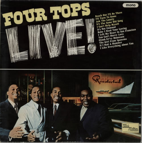 The Four Tops Live! vinyl LP album (LP record) UK FTPLPLI600022