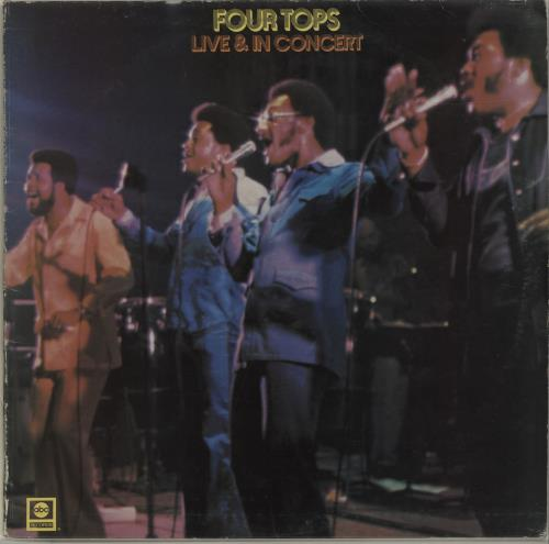 The Four Tops Live & In Concert - Black label vinyl LP album (LP record) UK FTPLPLI679958