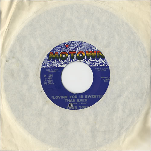 "The Four Tops Loving You Is Sweeter Than Ever 7"" vinyl single (7 inch record) US FTP07LO459434"