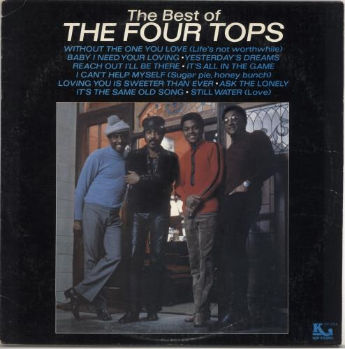The Four Tops The Best Of The Four Tops vinyl LP album (LP record) US FTPLPTH722050