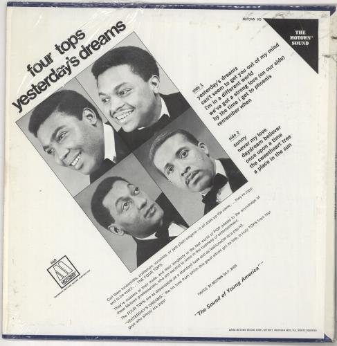 The Four Tops Yesterday's Dreams vinyl LP album (LP record) US FTPLPYE728662