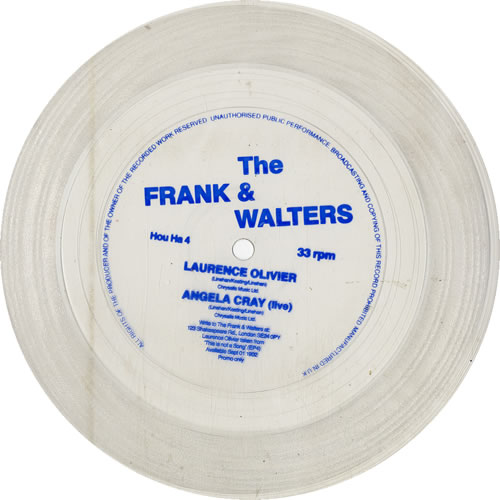 "The Frank And Walters Laurence Olivier 7"" vinyl single (7 inch record) UK F&W07LA631285"