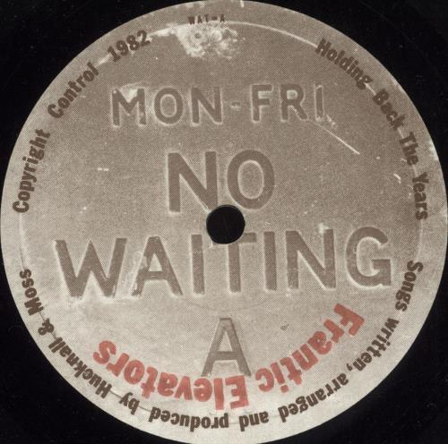 "The Frantic Elevators Holding Back The Years 7"" vinyl single (7 inch record) UK TFE07HO732628"
