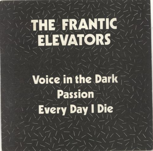 """The Frantic Elevators Voice In The Dark 7"""" vinyl single (7 inch record) UK TFE07VO130501"""