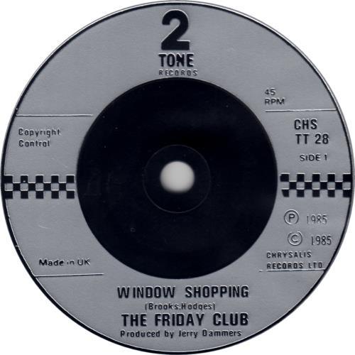 "The Friday Club Window Shopping + p/s 7"" vinyl single (7 inch record) UK WRF07WI624536"