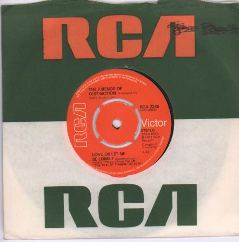 """The Friends Of Distinction Love Or Let Me Be Lonely 7"""" vinyl single (7 inch record) UK VP-07LO680118"""