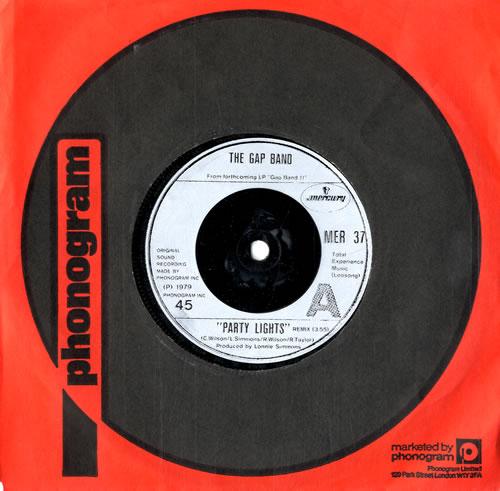 "The Gap Band Party Lights 7"" vinyl single (7 inch record) UK GAP07PA325793"