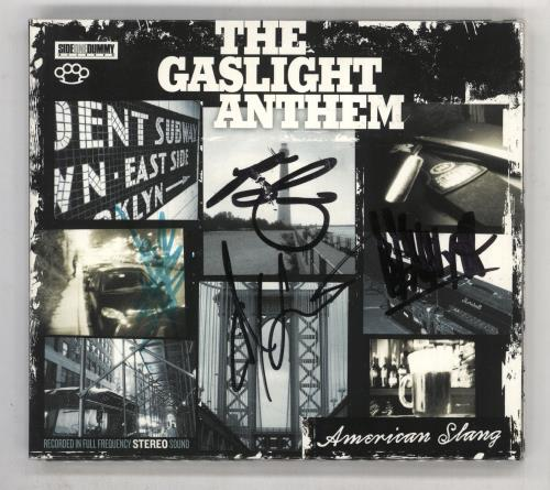 The Gaslight Anthem American Slang - Fully Autographed CD album (CDLP) UK T6GCDAM734491