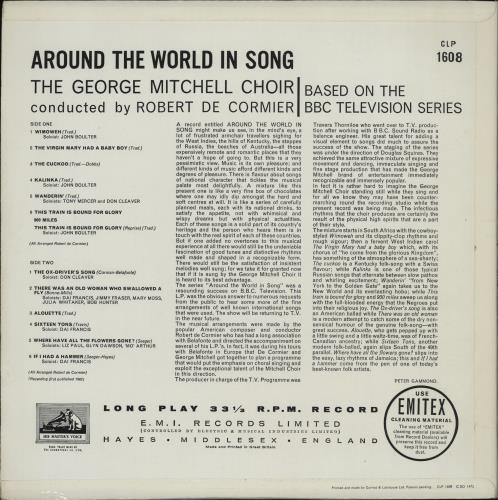 The George Mitchell Minstrels Around The World In Song vinyl LP album (LP record) UK GMNLPAR762111